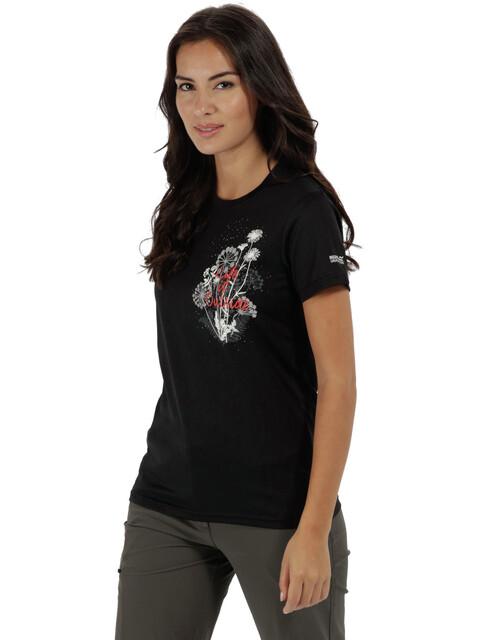 Regatta Fingal III - T-shirt manches courtes Femme - noir